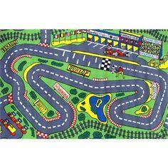 Formula One F1 Grand Prix Racing Track Car Rug Tara Kids Rugs
