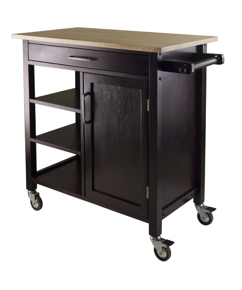 Buffet Table Rolling Sideboard Dining Room Kitchen Cart Drawer ...