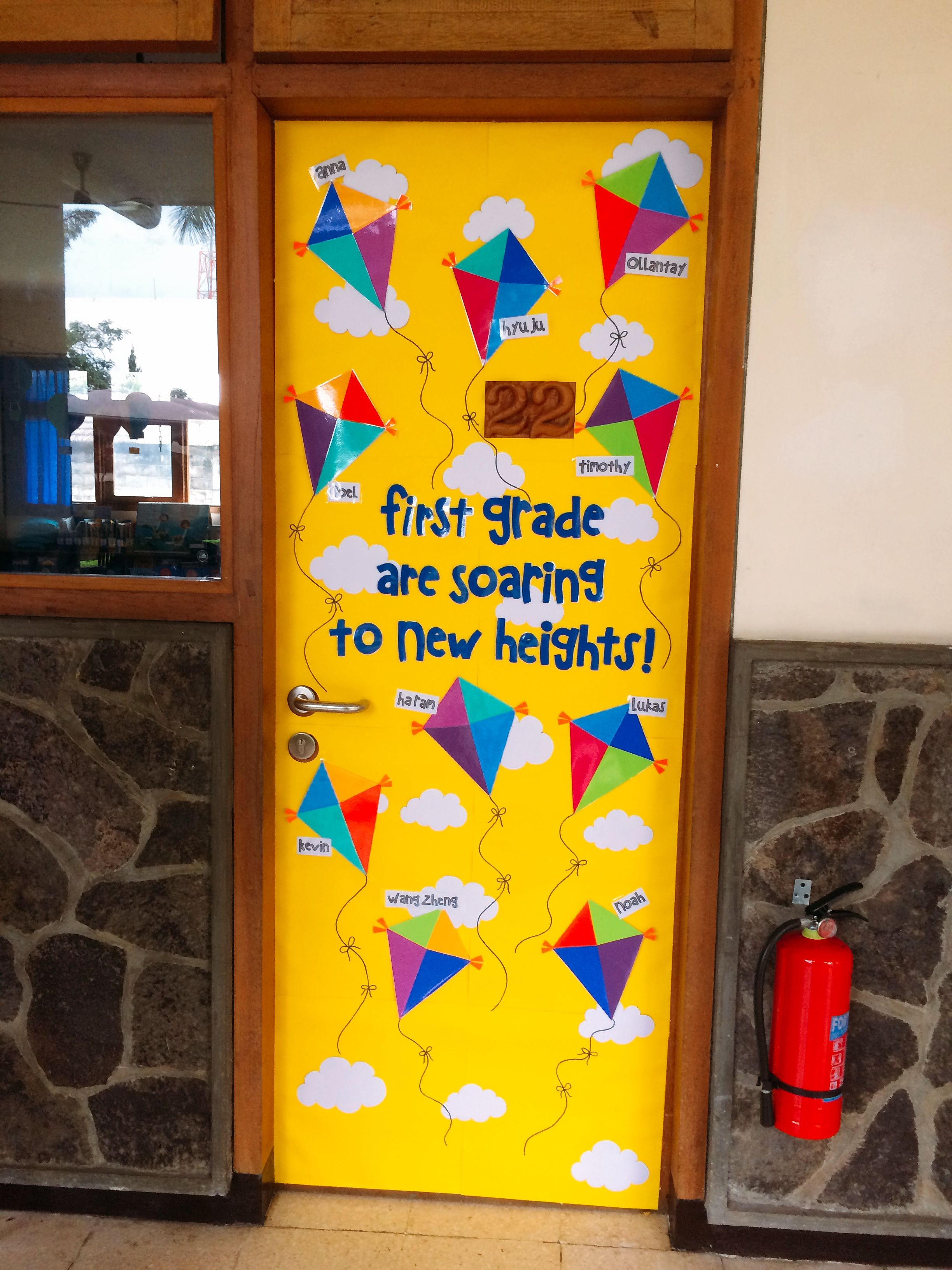 Kite Door Display First Graders Are Soaring To New Heights