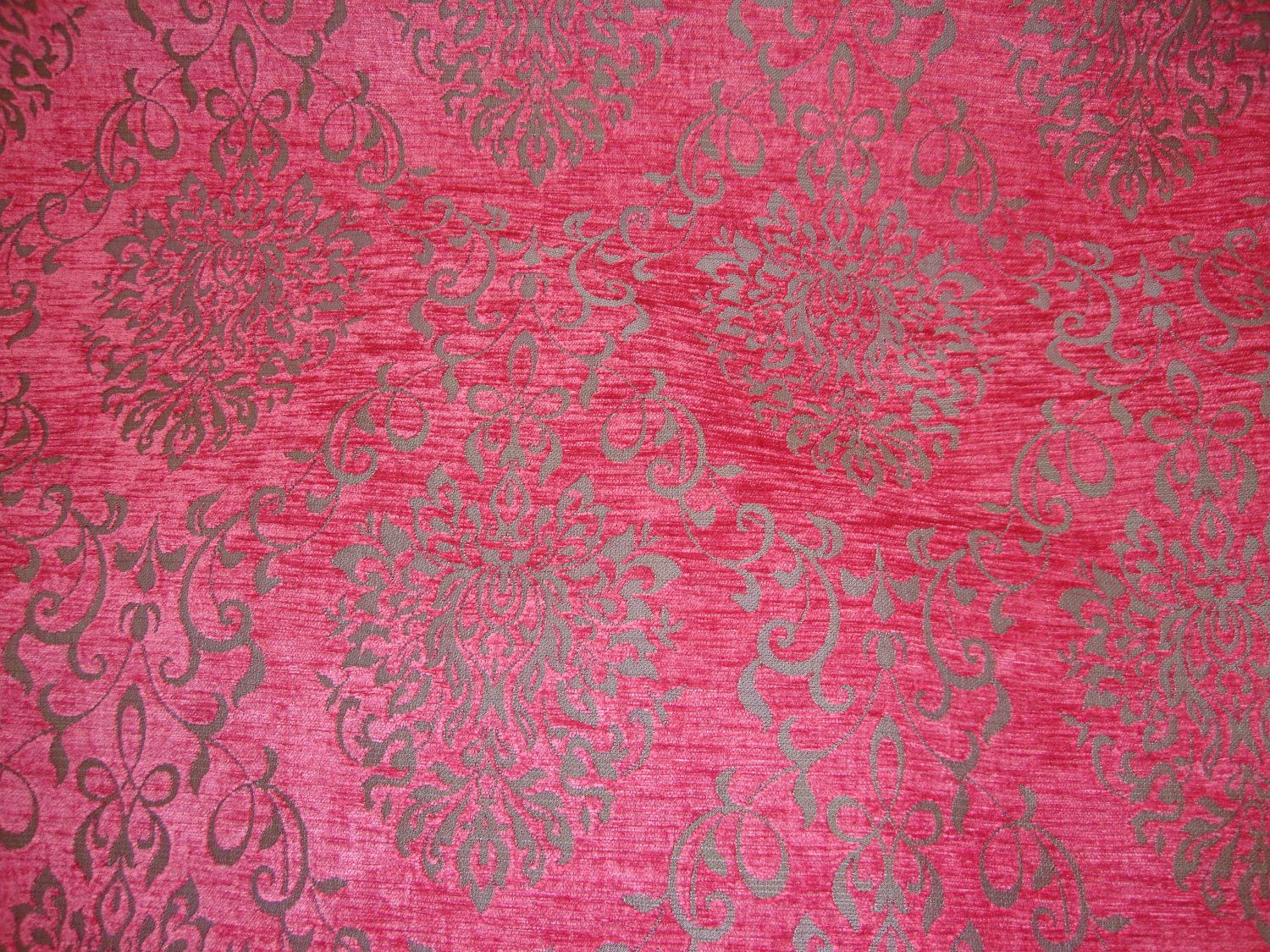 Pink Chenille Upholstery Fabric Pink Reversible Chenille Damask
