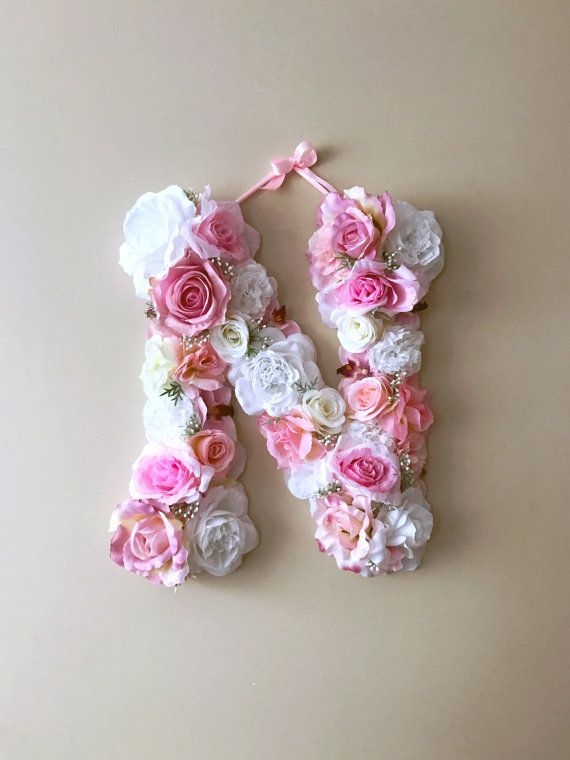 Flower Letters Floral Letters Vintage Wedding Decor Personalized Nursery Wall Decor Baby Shower Photography Prop Flower Letters Floral Letters Personalized Nursery Wall Decor