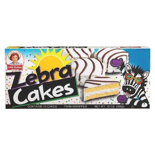 Little Debbie Zebra Cakes 10ct 13oz In 2020 Zebra Cake Little Debbie Zebra Cakes Debbie Snacks