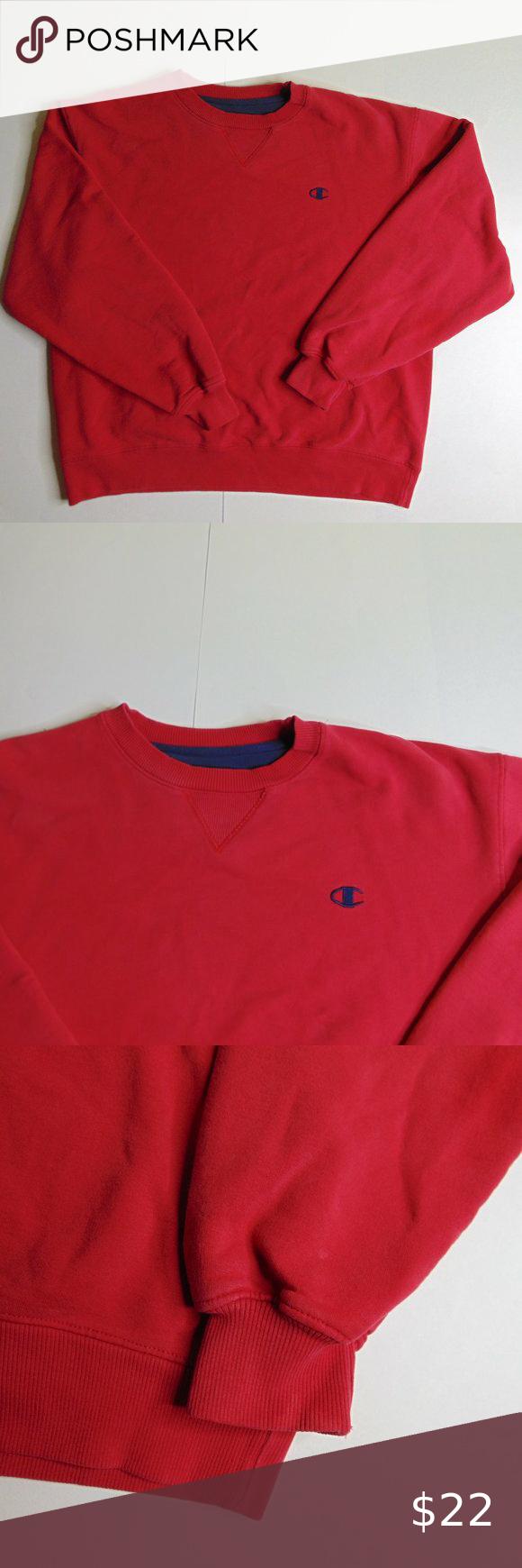 Champion Crewneck Sweatshirt Red Athletic Pullover Champion Crewneck Sweatshirt Crew Neck Sweatshirt Sweatshirts [ 1740 x 580 Pixel ]