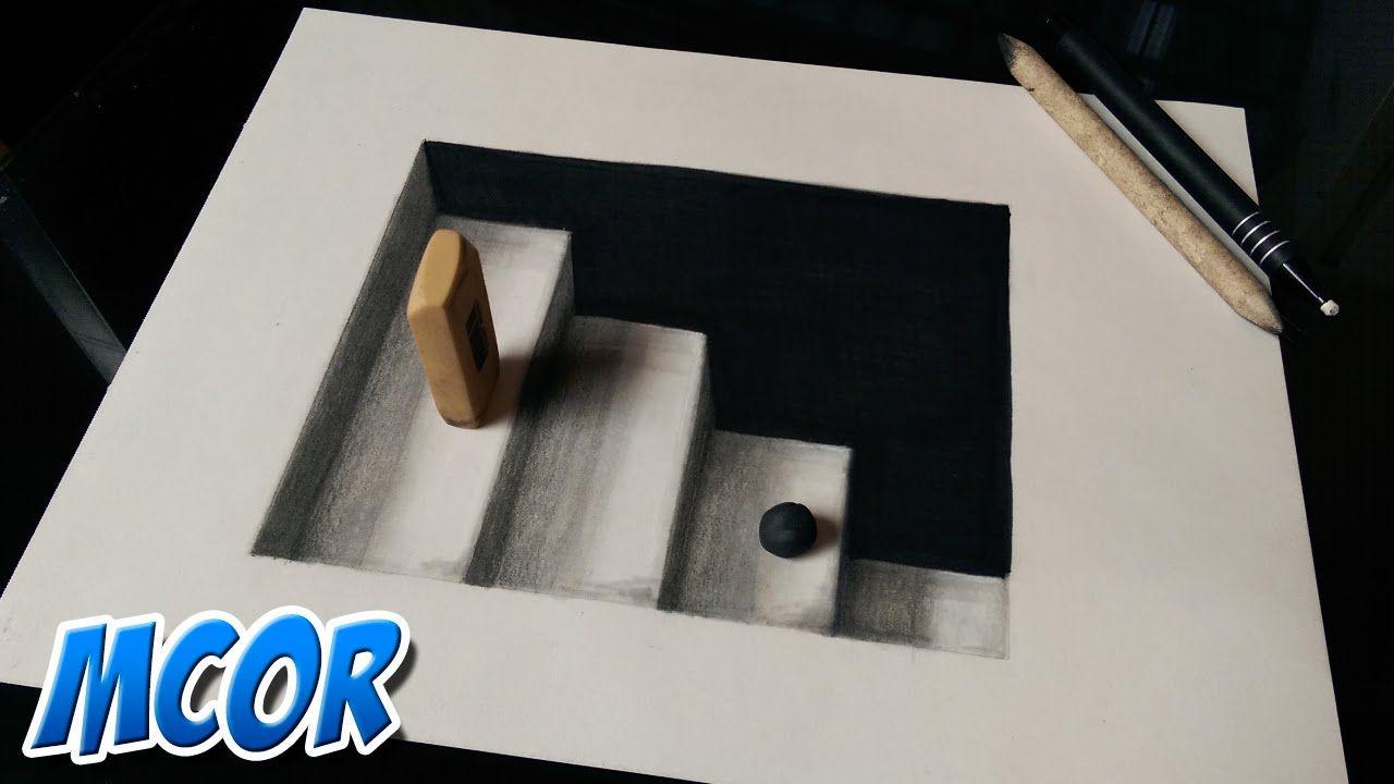 Como Dibujar Unas Escaleras En 3d Ilusion Optica Como Dibujar En 3d Ilusiones Opticas Ilusion Optica Dibujo