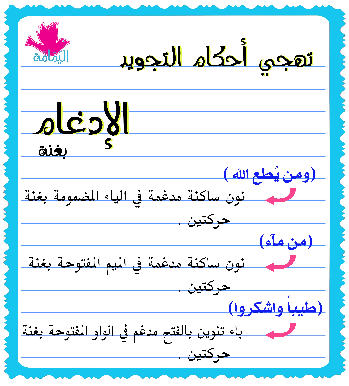 تهجي الإدغام 1 Learn Quran Tajweed Quran Islam Facts