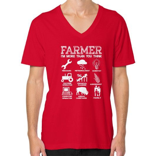 FARMER IM MORE THAN YOU THINK V-Neck (on man)