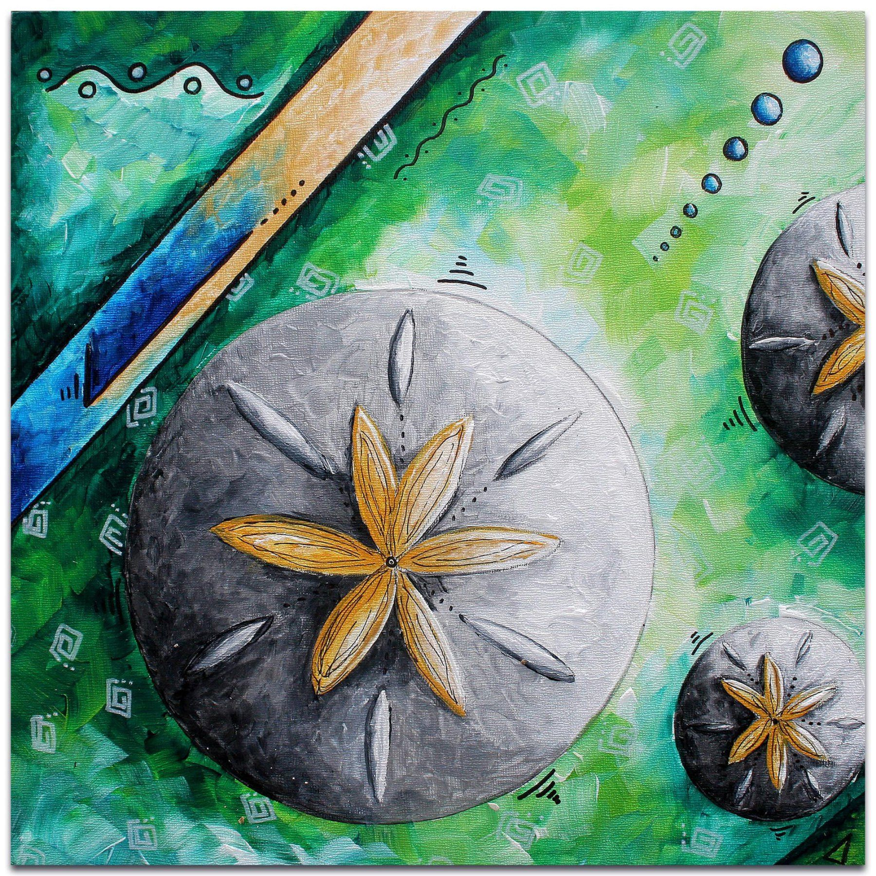 Metal Art Studio Sand Dollar Wall Art - MD0059AC