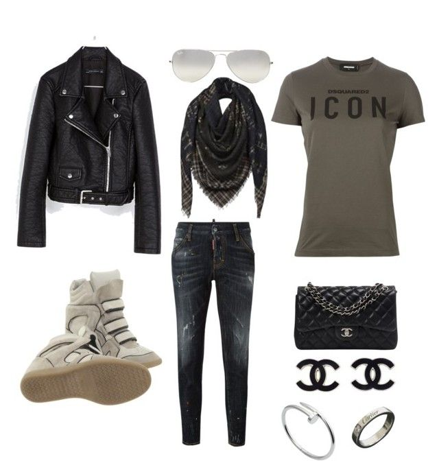 """✨"" by dewy-bergwijn on Polyvore featuring mode, Dsquared2, Zara, Isabel Marant, Chanel, Louis Vuitton, Cartier en Ray-Ban"