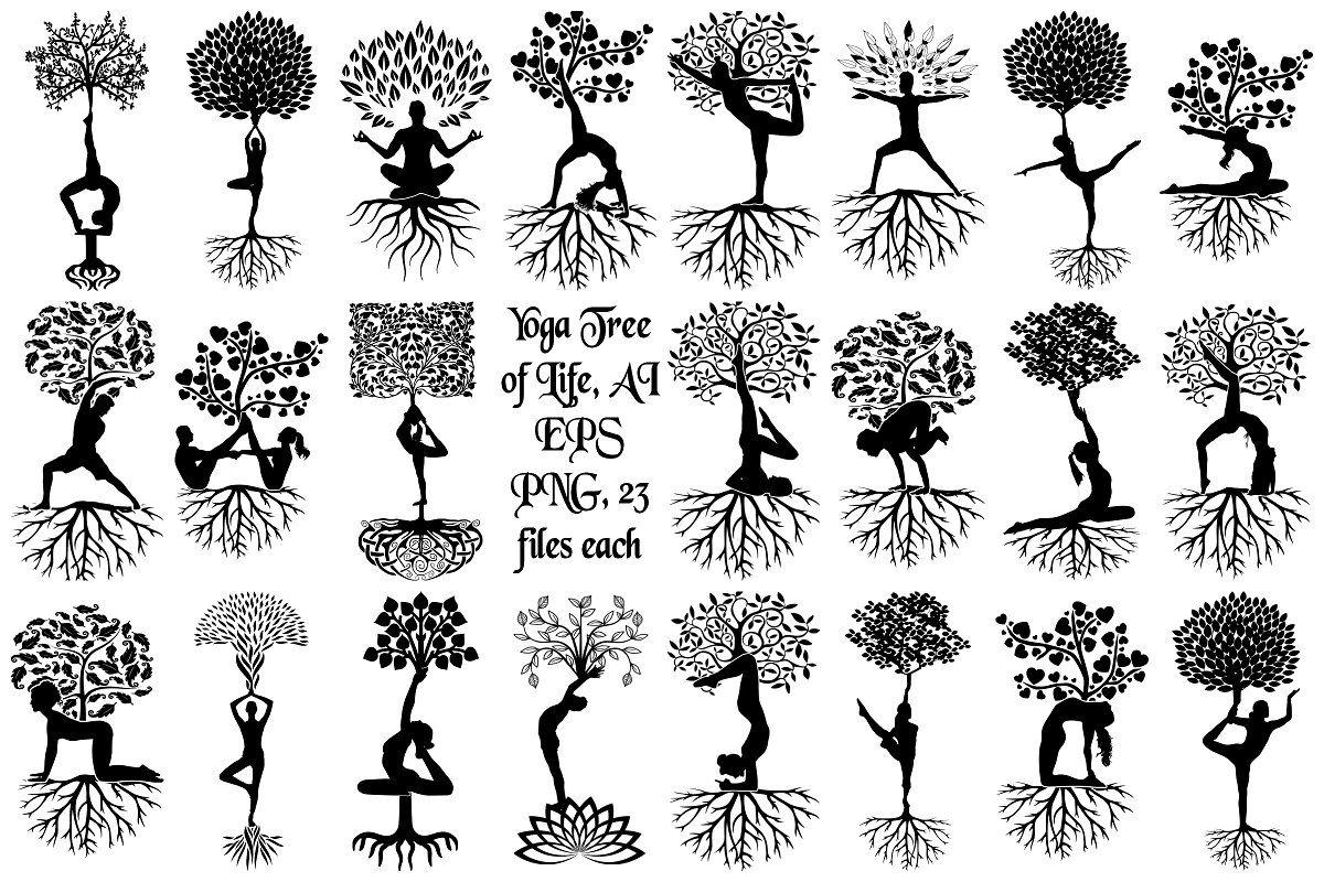 Yoga Tree Of Life Vector Yoga Tree Tree Of Life Tree Of Life Logo