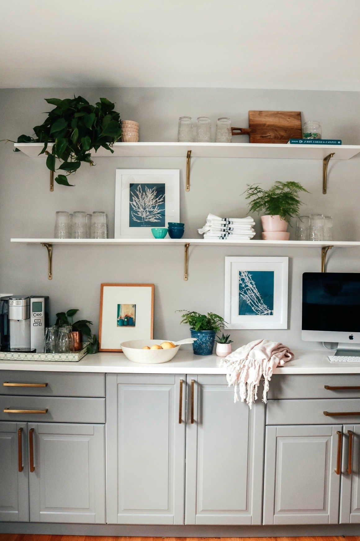kitchen shelf styling diy open shelves with affordable decor dining room shelves kitchen on kitchen decor open shelves id=79710