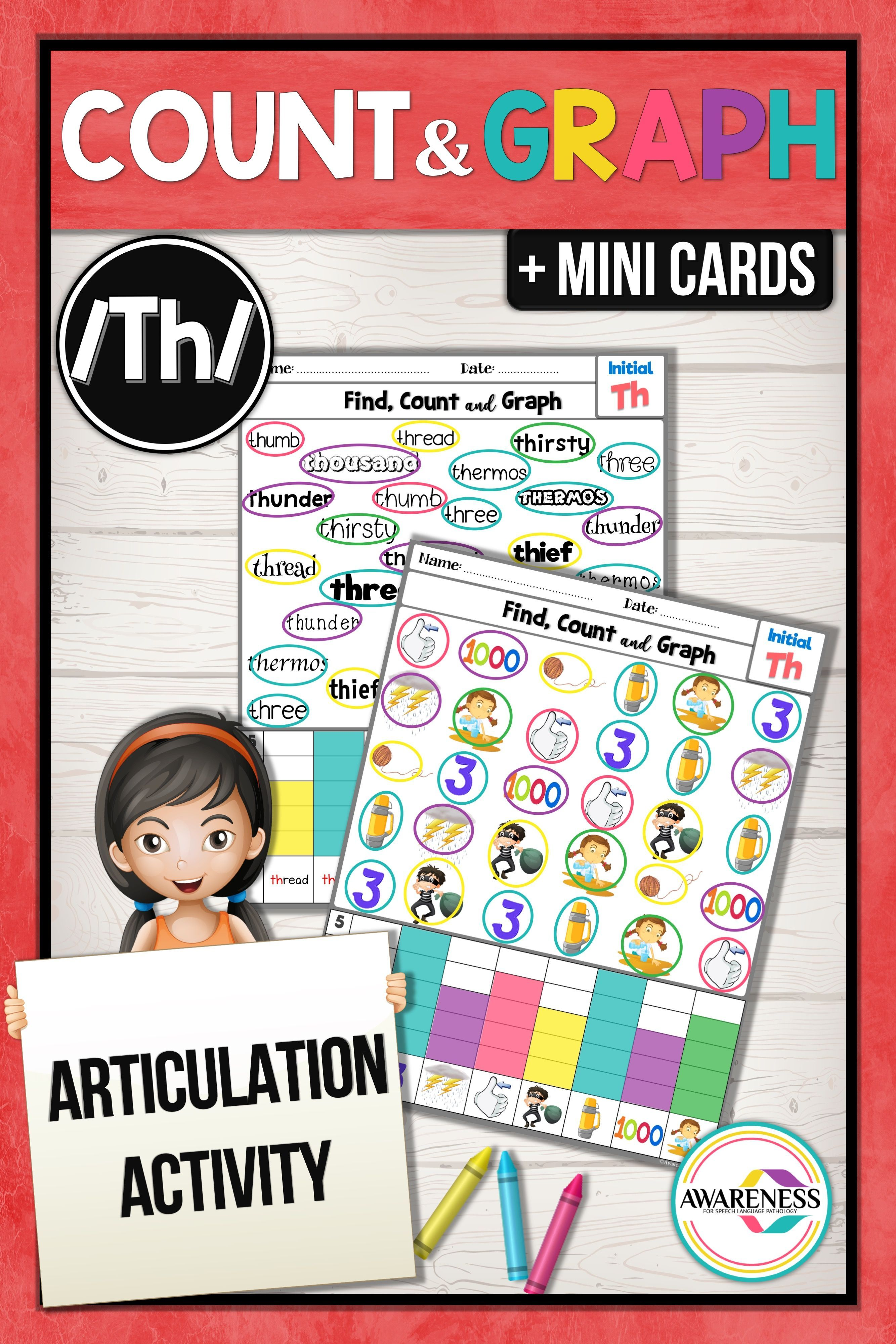 Th Articulation Activity Th Sound Count Amp Graph No Prep