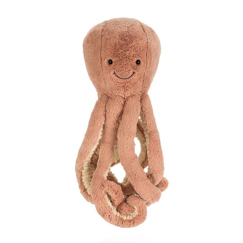 Baby speelgoed inktvis knuffel rood | Baby knuffel.nl