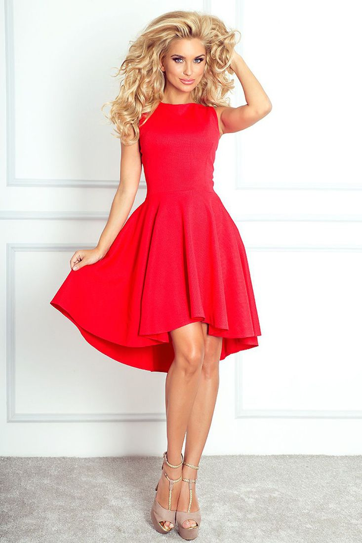 Red Fit and Flare Cocktail Dress | Dress images