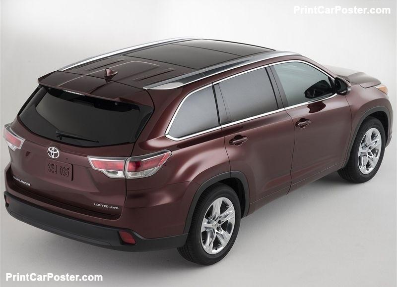 Toyota Highlander Lease >> Toyota Highlander 2014 Poster Highlander Toyota