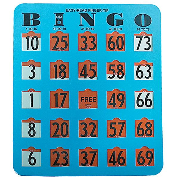 Easy Read Finger Tip Bingo Card 20 Cards Holiday