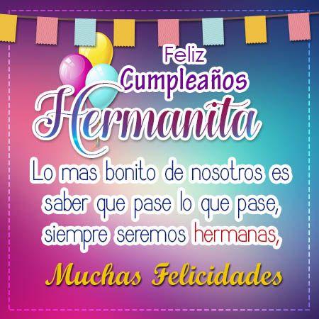 Feliz Cumpleaños Hermana | Feliz cumpleaños hermanito, Tarjetas de ...