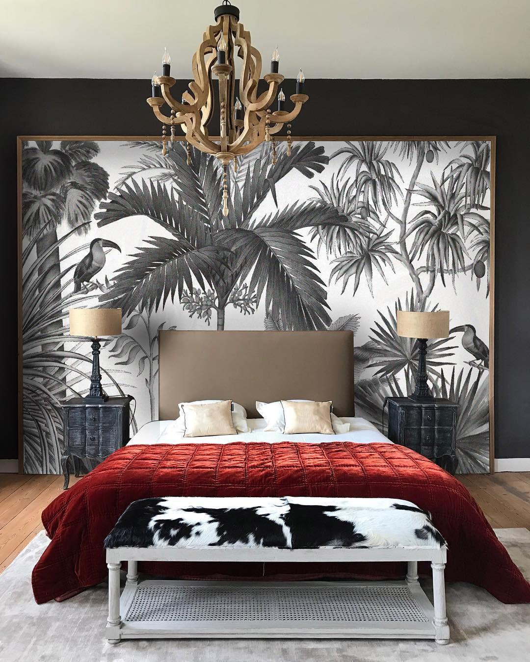 Papier Peint Panoramique Jarawa Noir Et Blanc Ananbo