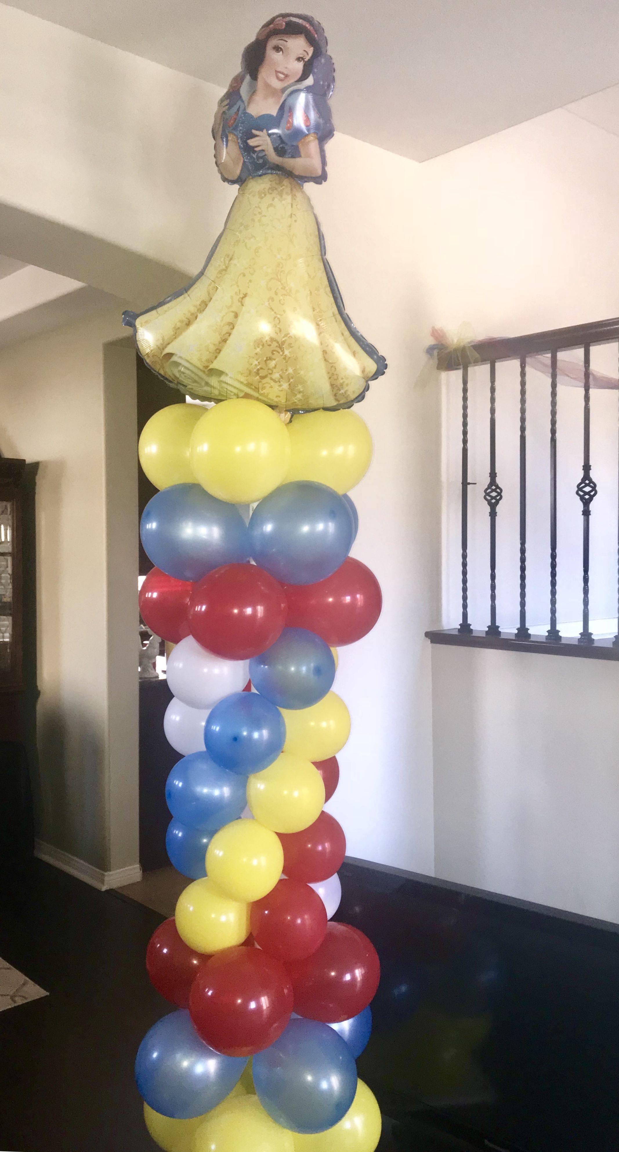 Snow White Balloon Column! Snow White Party Ideas! Snow