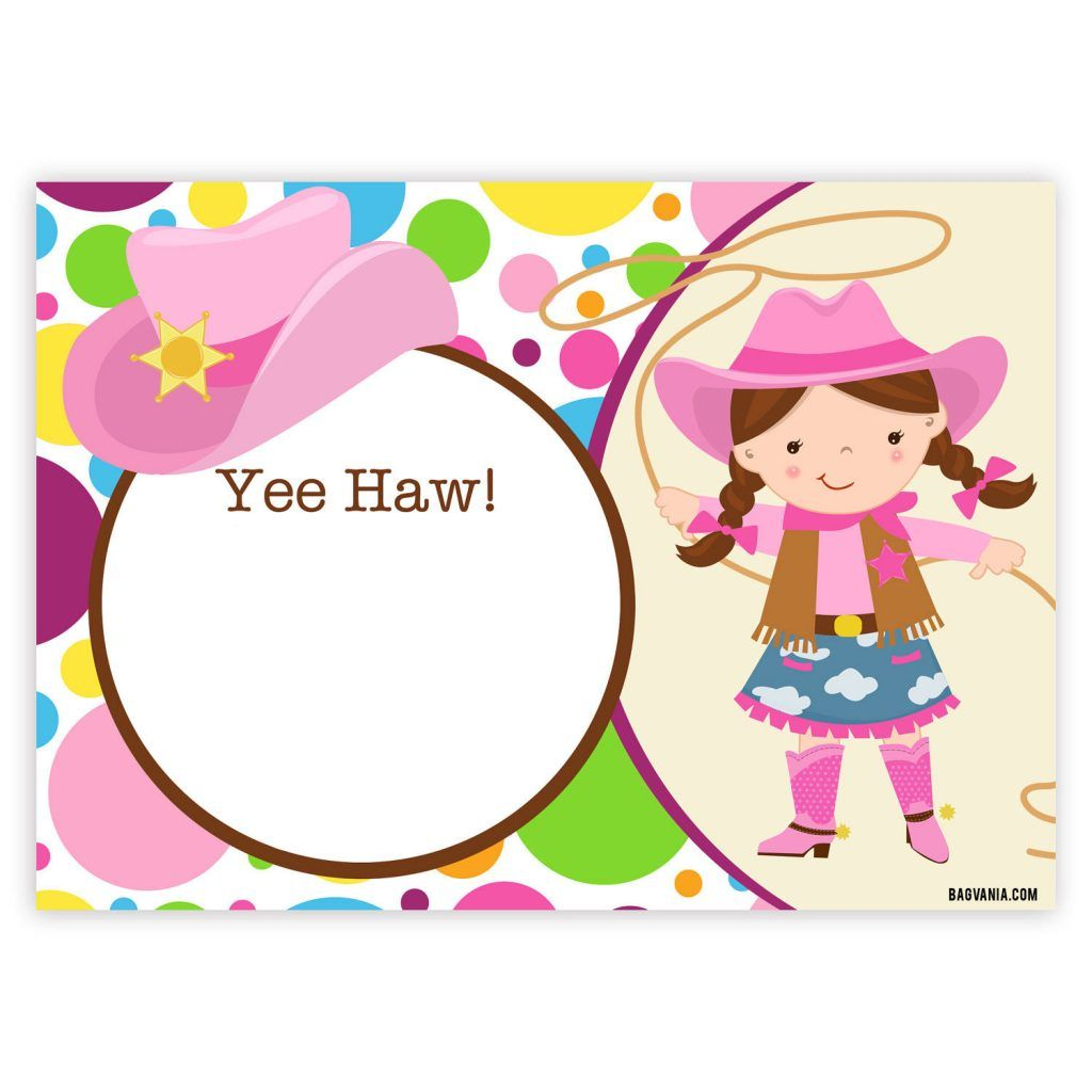 photograph regarding Free Printable Cowgirl Birthday Invitations known as Absolutely free Cowgirl Birthday Invites Free of charge Printable Birthday