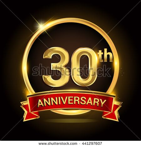 30th Golden Anniversary Logo 30 Years Anniversary Celebration With