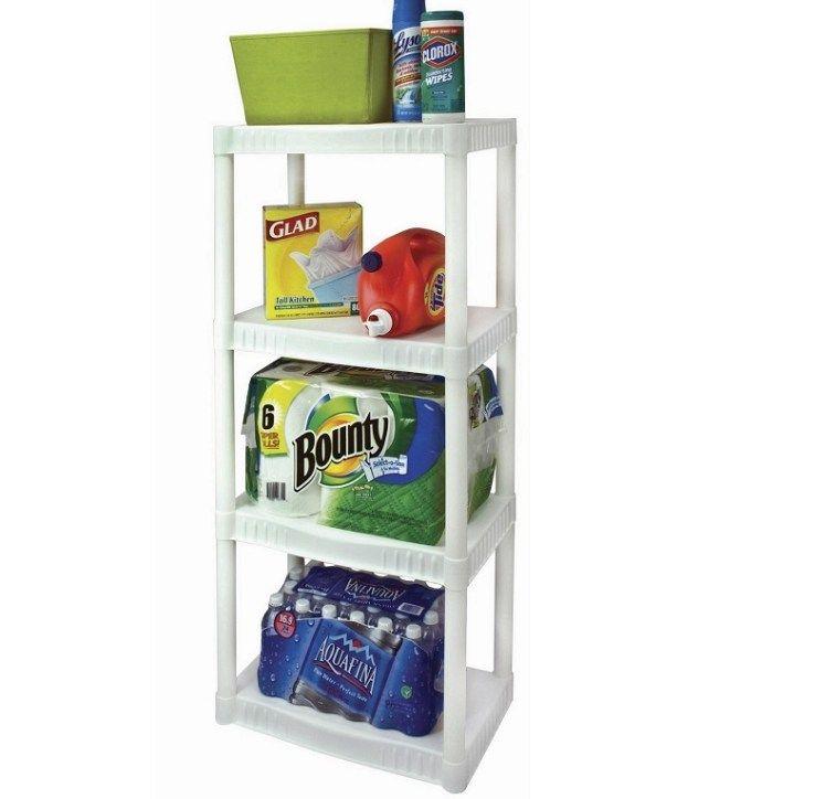 Walmart 4 Tier Heavy Duty Plastic Shelves For 14 97 Reg 34 32