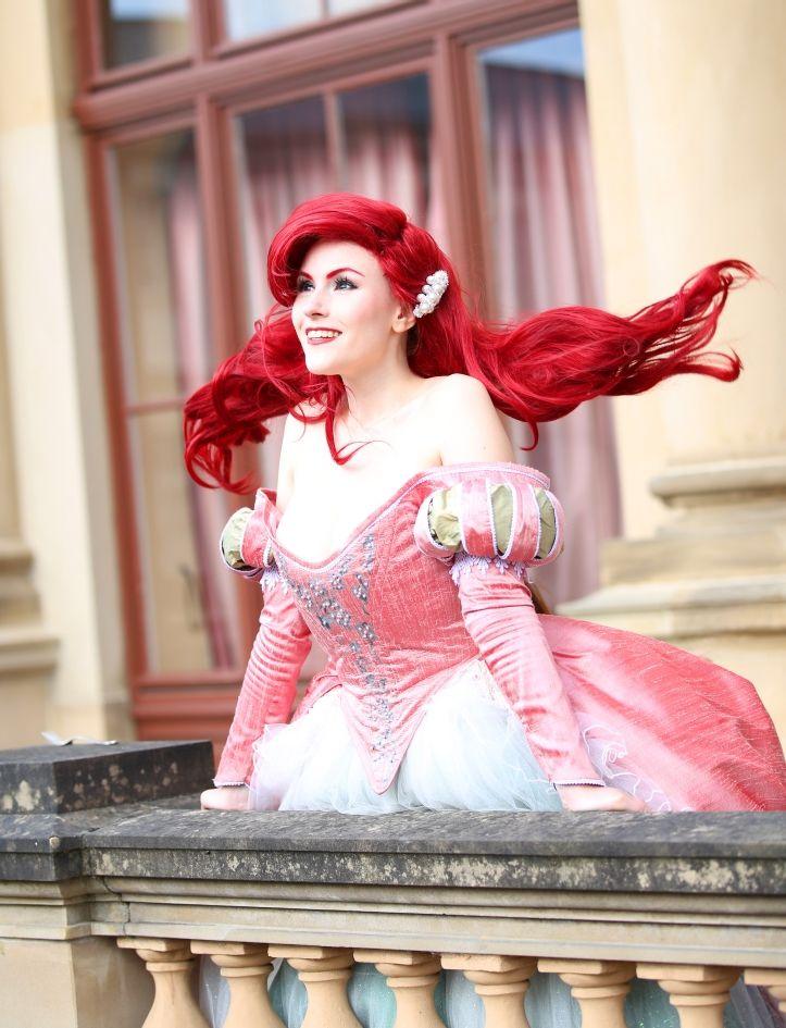 Ariel the little mermaid - pink ball gown by flockenschnitte ...