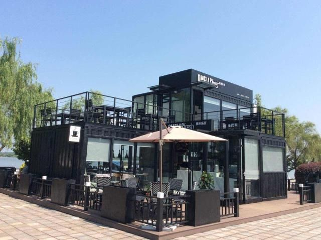 shipping container restaurant 9 container cafe. Black Bedroom Furniture Sets. Home Design Ideas