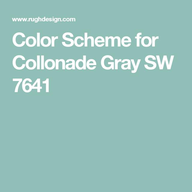 Color Scheme For Colonnade Gray Sw 7641 Kilim Beige