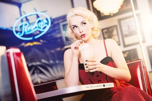 PEARL BLANCHED October 2014 Pinup-Doll of the month #photo...