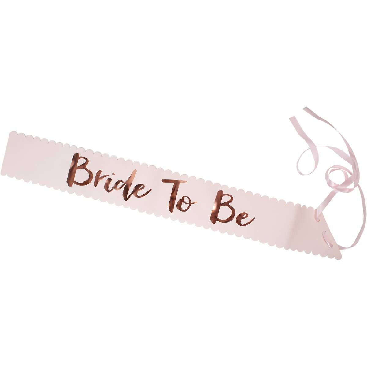 Ginger Ray Rose Gold Bride To Be Sash Hobbycraft Bride To Be Sash Bride Team Bride