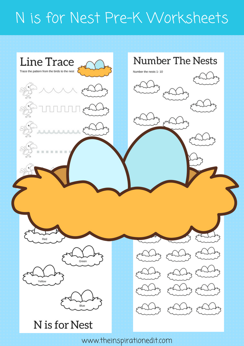 Letter N Worksheets For Preschool Kids Letter n, Phonics