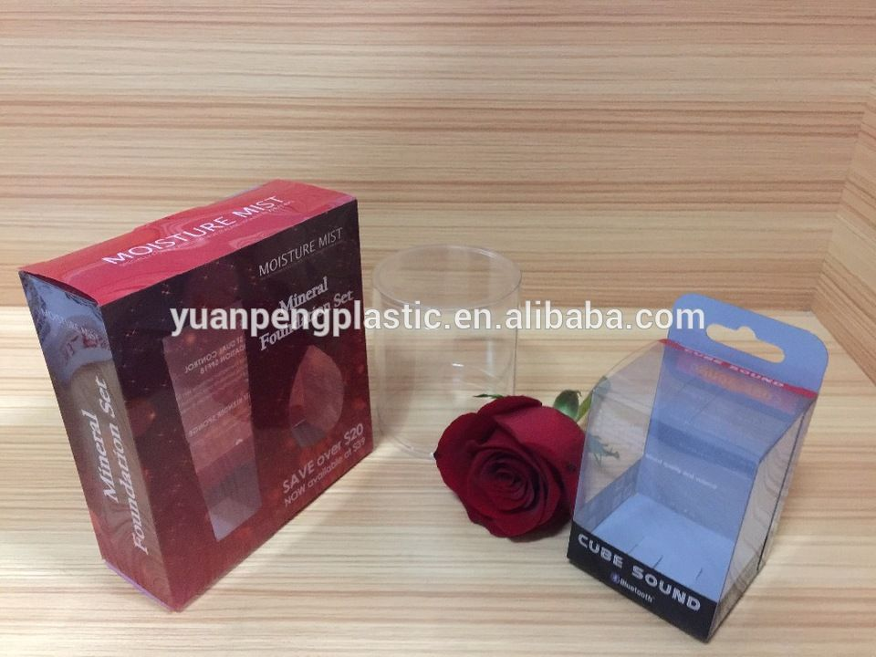 clear custom PET PVC clear Plastic Packaging Box , clear acetate box with customized printing design
