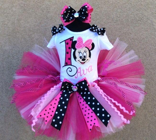 Vistoso Vestidos De Fiesta Minnie Mouse Para Niños Pequeños Modelo ...