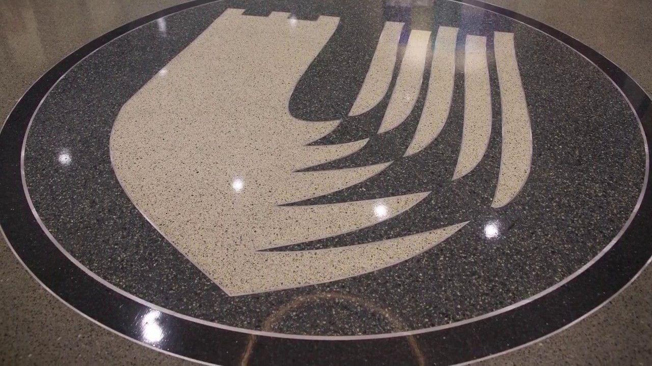 Terrazzo Project Duke University School Of Nursing Www Doyledickersonterrazzo Com Duke Terrazzo Flooring Terrazzo Flooring Decorative Plates
