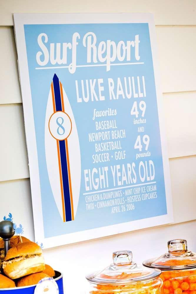 Photo of Cooles Surfgeburtstagsfeierzeichen! Weitere Ideen für die Partyplanung finden Sie auf CatchMyParty.com …