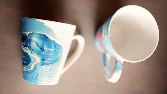 Tasses aquarelles : technique facile