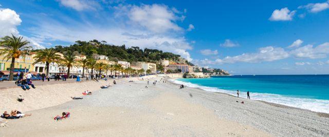 Nice France Beach In Sunshine Overlan