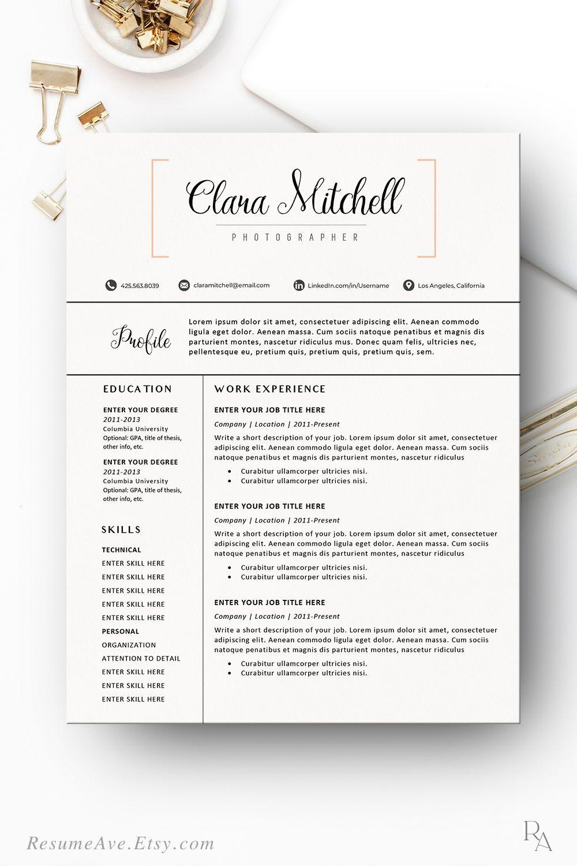Orange cv template professional teacher resume template