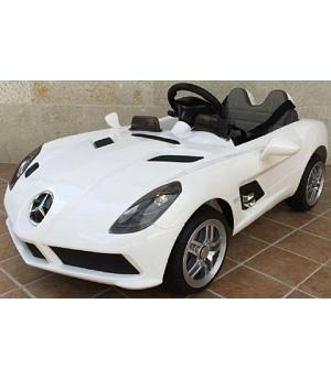 Oferta Coche Electrico Infantil 12v Mando Mercedes Slr Blanco