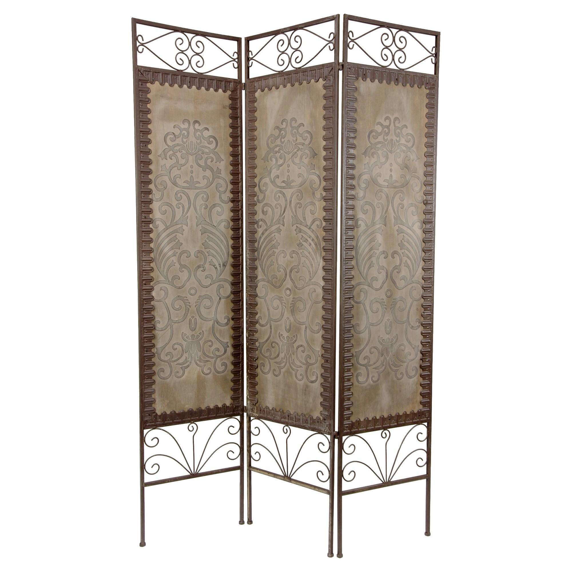6 Ft Tall Mediterranean Room Divider Oriental Furniture Brown