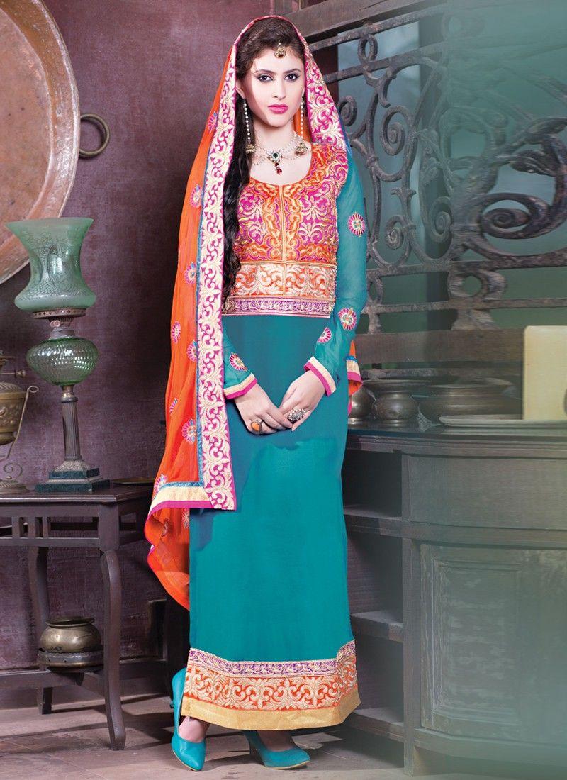 Faux Georgette Designer Ankle Long Salwar Churidar Suit !!  Product Code: 5336 ||Price:-3,950/- INR ||