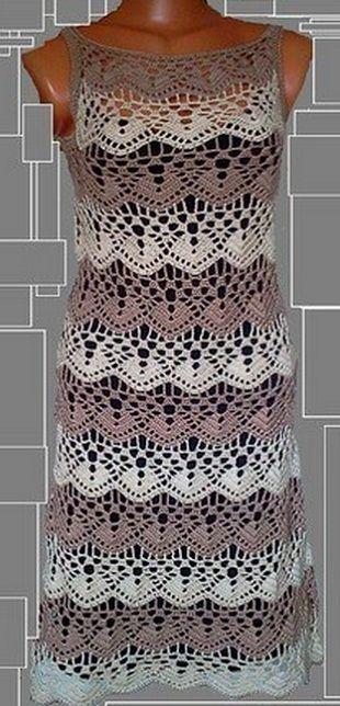 Crochet Dress - Free Crochet Diagram - (woman7) | Projects to Try ...