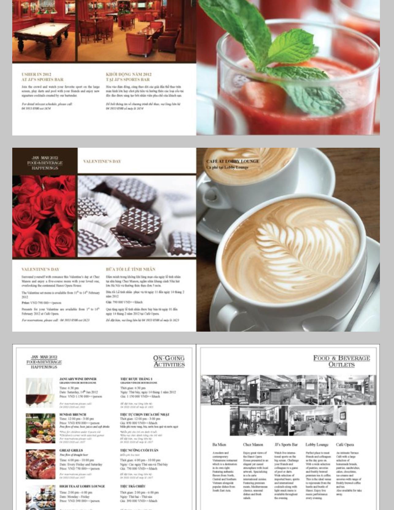 Hilton/ F&B brochure by Vu Linh Ha, via Behance