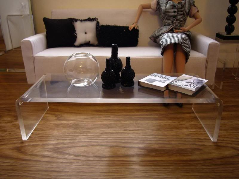 Fashion Through Lucite Coffee Table
