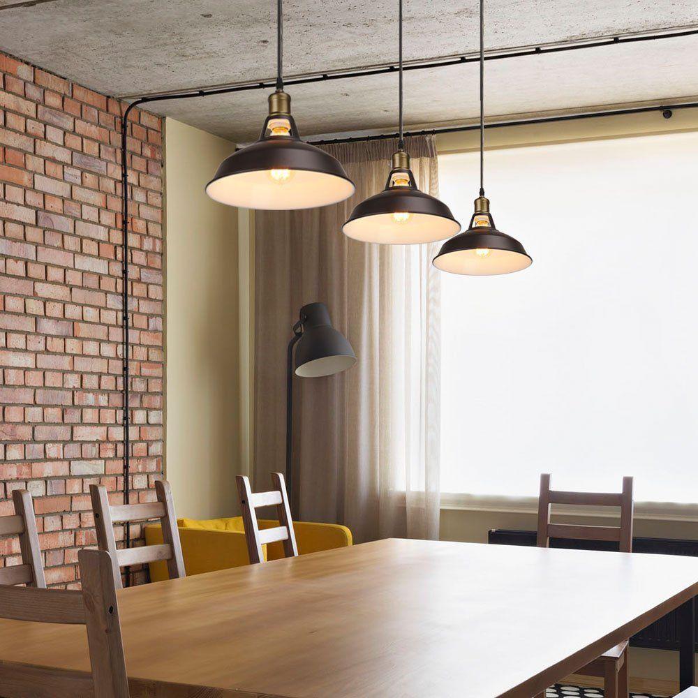 Barn Pendant Light Hanging Light Fixture Industrial Iron Pendant Lamp Shade Ul Listed Painted Brown Ceiling Hanging Lamp Shade Ceiling Lights Pendant Light