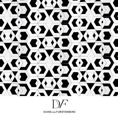 DVF |  Hex Maze Print