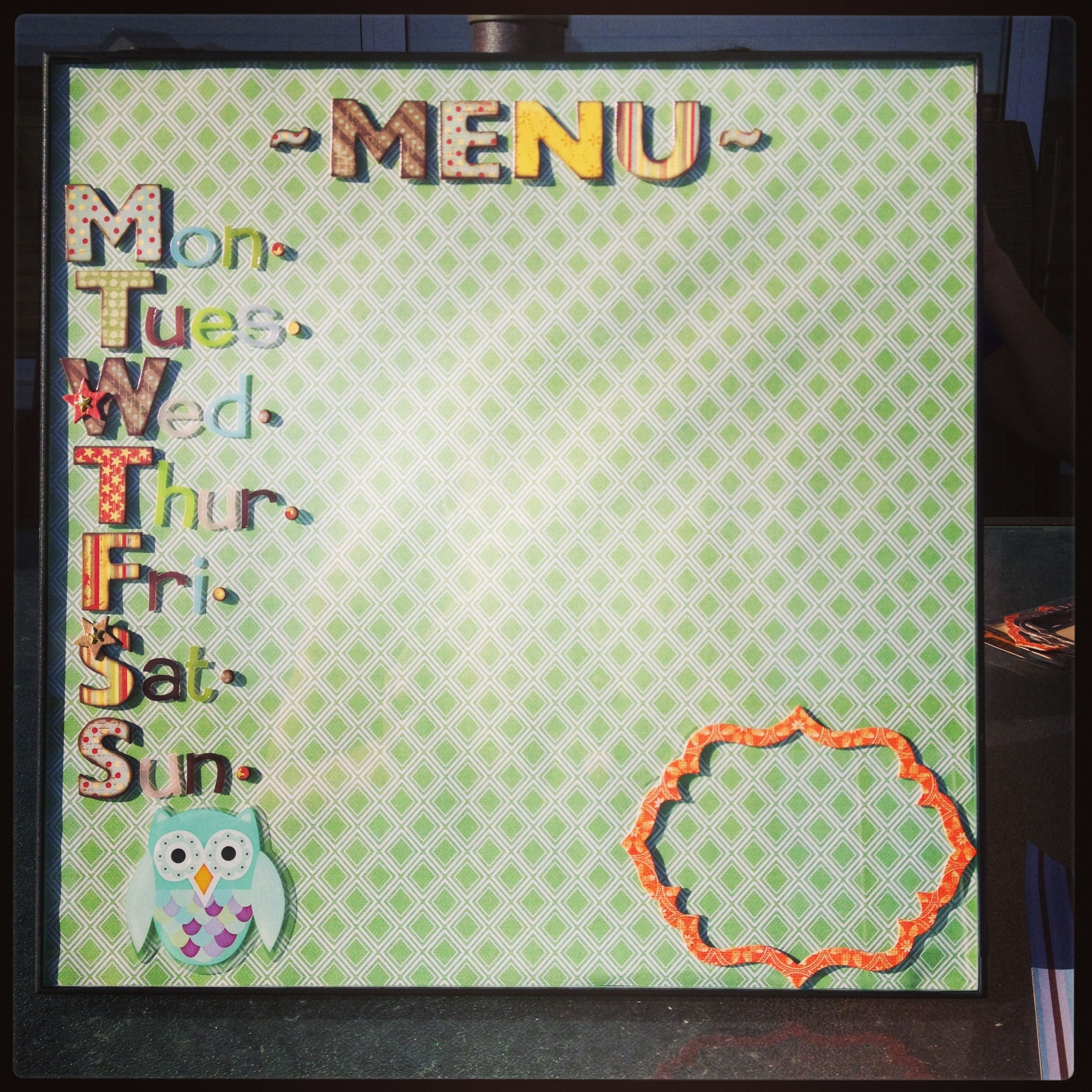 12x12 Poster Dyi Menu Planner Take A 12x12 Picture Frame Buy A Piece