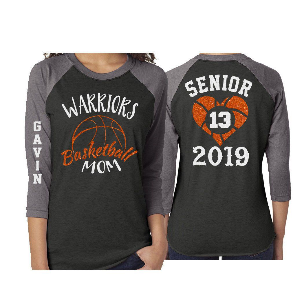 a1971f9e57f Excited to share this item from my  etsy shop  Glitter Basketball Senior Mom  Shirt