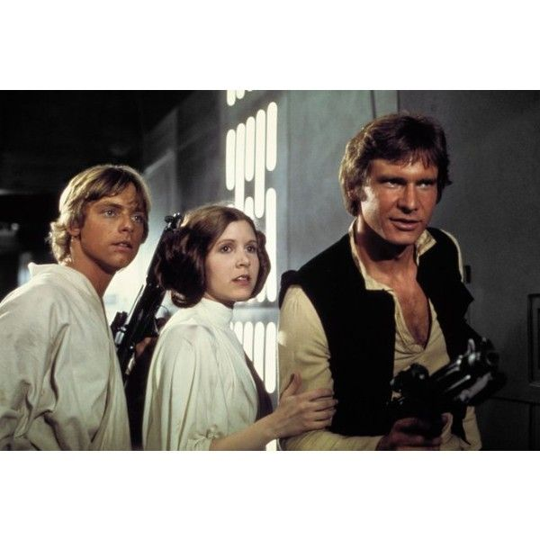 Star Wars (1977) ❤ liked on Polyvore featuring star wars, movies ve princess leia