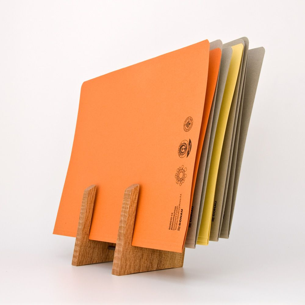 handmade wooden file holder by less & more